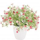 wholesale Artificial Flowers: Gypsophila Nellina potted, D20cm, H20cm, pink